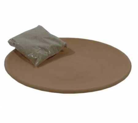 Fire-proof terracotta dish & silver sand  for  incense/resin burners